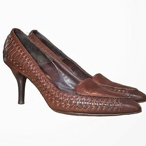 Bally Woven Leather Classic Pump 9